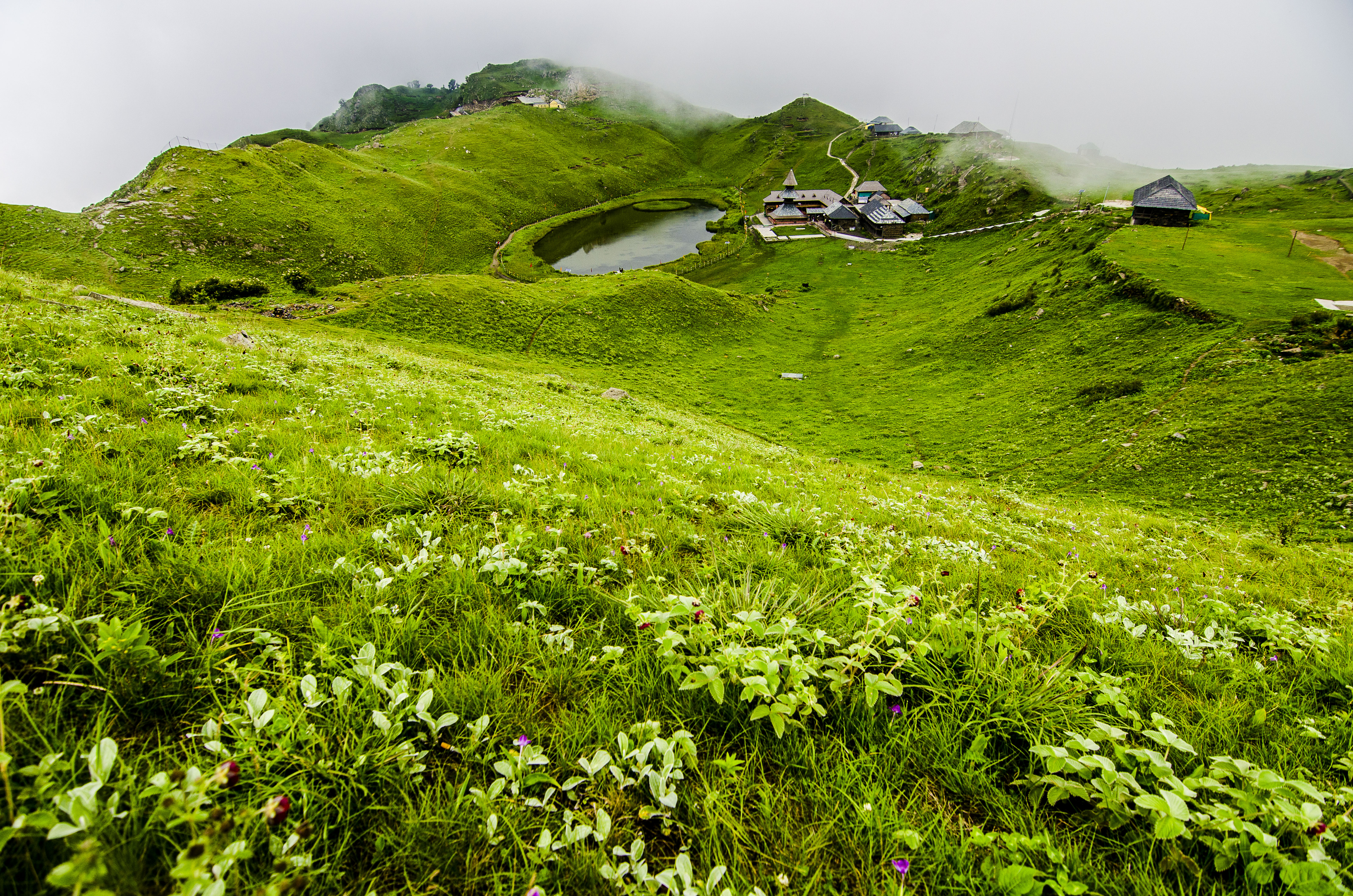 Amazing Prashar Lake and Temple in Monsoons